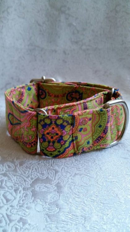 collar para perros multicolor estilo hippy flower power modelo C96